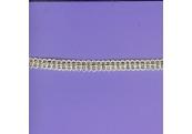 """5 Yds   3/8""""    White/Gold Metallic 1143"""