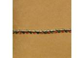 """5 Yds  3/16""""  Red/Green/Gold Metallic 1520"""