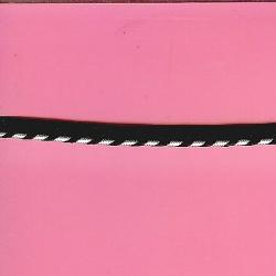 "5 Yds  3/8""    Black/Silver Cordedge     1596"