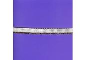 """5 Yds 7/16"""" White/w Copper Cordedge   1641"""