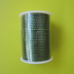 """17 Yds  1/16""""   Spool Green/Gold Metallic Cord  1776"""