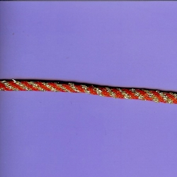 "5 Yds  1/4""  Diameter Red/Gold Cord   3712"