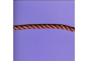 "5 Yds 1/4"" Diameter Burgundy/Gold Cord   3713"