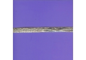 "5 Yds  3/8""   Silver Metallic Flat Braid   3939"
