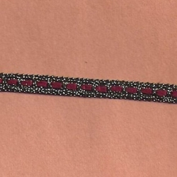 "5 Yds   3/8""   Burgundy/Antique Gold Braid  4679"