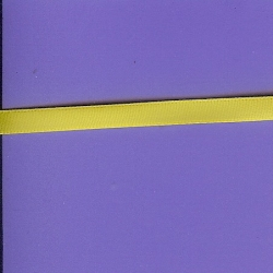 "5 Yds  1/4""  Yellow Poly Satin Ribbon   1540"