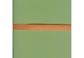 """5 Yds  1/4""""  Pastel Orange Poly Ribbon  1733"""