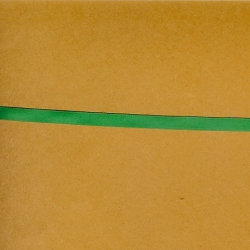 "5 Yds 1/4"" Single Faced Green Satin Ribbon   3587"