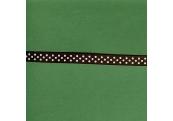 """5 Yds 3/8"""" Poly Brown White Dot Grosgrain Ribbon  3592"""