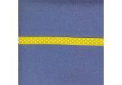 "5 Yds 3/8"" YellowWhite Polka Dot Grosgrain Ribbon  3594"