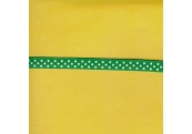 """5 Yds 3/8"""" Emerald/White Polka Dot Grosgrain Ribbon 3684"""