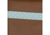 "5 Yds 7/8"" Baby Blue/White Dots Grosgrain Ribbon  4035"
