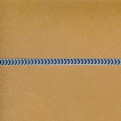 "5 Yds 1/4"" Dk. Blue Chevron Ribbon   4190"