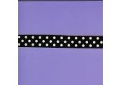 """4 1/3 Yds  5/8""""  Black/White Dots Ribbon   4204"""
