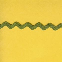 """5 Yds    3/8""""    Olive Green Rick Rack   3098"""