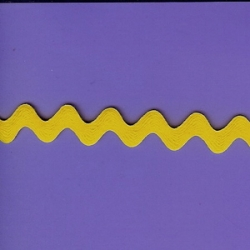 "8 1/4 Yds  3/4""  Yellow Rick Rack   3721"
