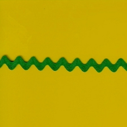 "5 Yds  1/2""  Emerald Green Rick Rack  3743"