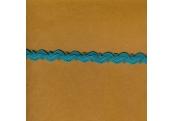 "5 Yds  7/16""   Turquoise Rick Rack/w Loops   3762"