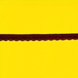 """5 Yds   3/8""""    Burgandy Stretch Lace     1882"""