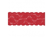 """50Yds   2 1/2""""  Red Stretch  Lace 4055"""