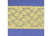 """5 Yds 5 1/4"""" Yellow Stretch Lace 4065"""