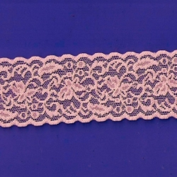 "50 Yds  2 1/2""  Tangerine Stretch Lace  4257"