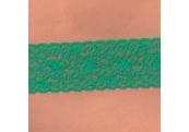 "50 Yds  2 1/2""  Dark Green Stretch Lace  4266"
