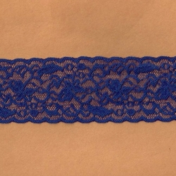 "5 Yds  2 1/2""  Sapphire Blue Stretch Lace  4270"