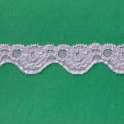"50 Yds  1 1/8""  Crystal Lilac Stretch Lace  4275"