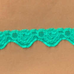 """5 Yds 1 1/8""""  Green Stretch Lace 4284"""