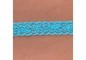 "5 Yds 1""  Bright Sky Blue Stretch Lace 4297"