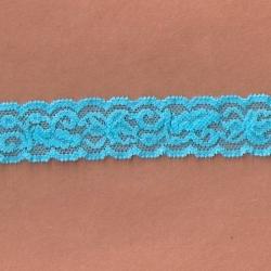 """5 Yds 1""""  Bright Sky Blue Stretch Lace 4297"""