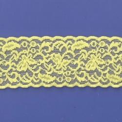 """50 Yds  2 1/2""""   Yellow Sunshine Stretch Lace  4303"""