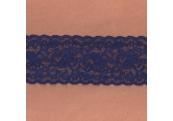 """5 Yds  2 1/2"""" Ink Blot Blue Stretch Lace 4305"""