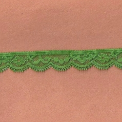"""5 Yds  3/4"""" Sprout Green Stretch Lace 4312"""