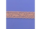 "5 Yds  1 1/8""  Tan Stretch Lace  4315"