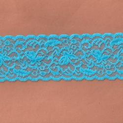 """5 Yds  2 1/2""""  Sky Blue Stretch Lace  4317"""