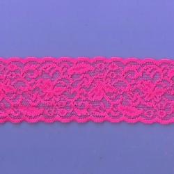 "50 Yds  2 1/2""  Spool Pink Stretch Lace  4326"
