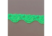 "100 Yds  1 1/8""  Spool  Neon Mint  Scalloped Stretch Lace  4334"