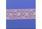 "50 Yds  2 3/8""   Pink/Silver Fillagree Stretch Lace 4351"
