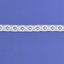 "284 Yard  Spool 7/16""  White Stretch Lace  4357"