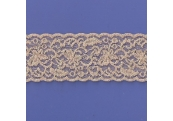 "5 Yds  2 1/2""  Tan/Gold Stretch Lace  4365"