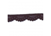 "100 yds  1""    Black Stretch Lace   4367"