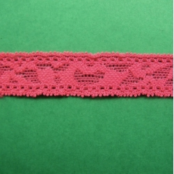 """5 Yds  3/4""""  Neon Red Stretch Lace  4377"""