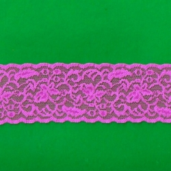 "139 Yds  2 1/4""  Spool Fuchsia Stretch Lace  4387"