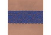 """50 Yds  2 3/8""""  Matisse Blue Stretch Lace  4389"""