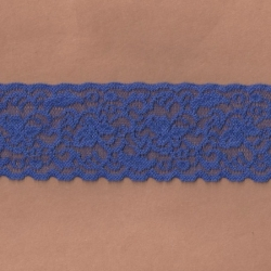 """5 Yds  2 3/8""""  Matisse Blue Stretch Lace  4389"""