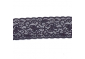 "50 Yds  2 1/4""  Dark Grey Stretch Lace  4394"