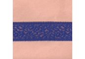 "5 Yds 2 3/8"" Blue Stretch Lace 4399"