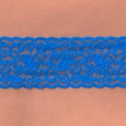 """50 Yds  2 1/2""""  Majorelle Blue Stretch Lace  4400"""
